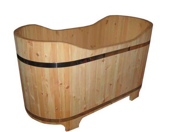 baignoire en bois. Black Bedroom Furniture Sets. Home Design Ideas